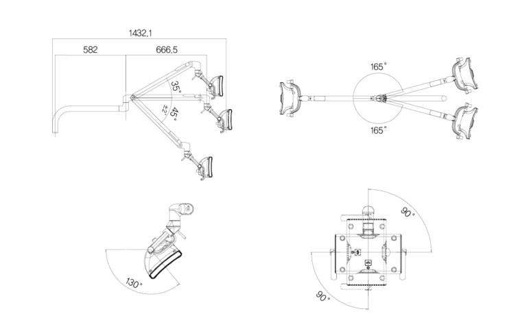 Stomatologické pracovní svítidlo Luvis by DentaSun C-500