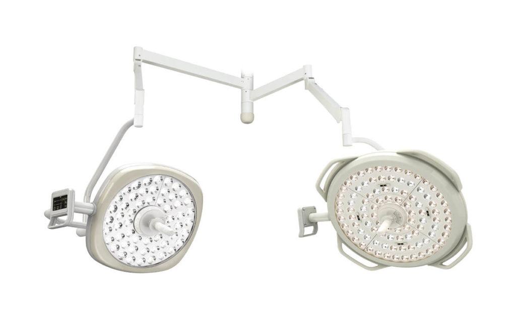 Operační svítidlo Luvis M-210 D dvojité stropní
