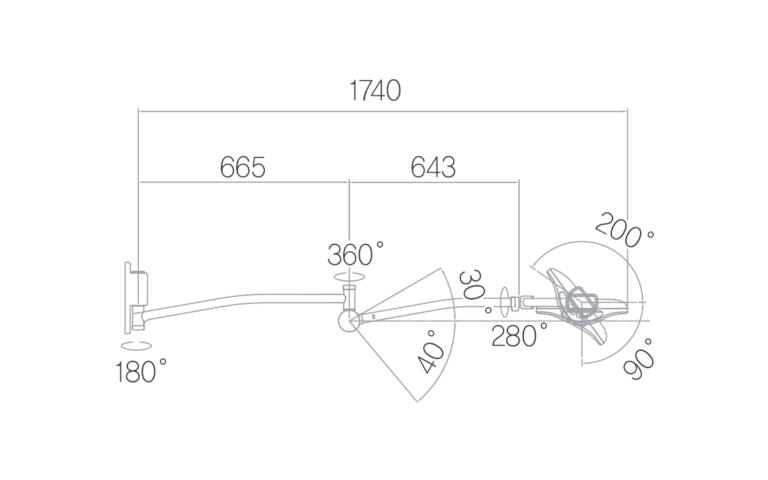 Operační svítidlo Luvis S-200 W nástěnné