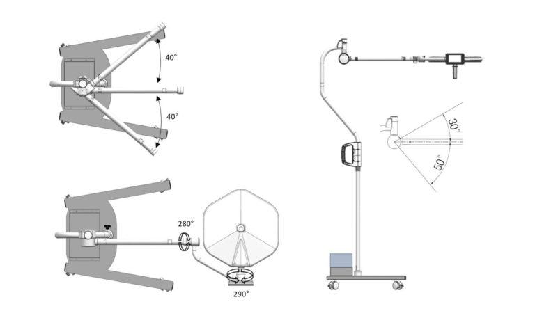 Operační svítidlo Luvis S-300 M mobilní